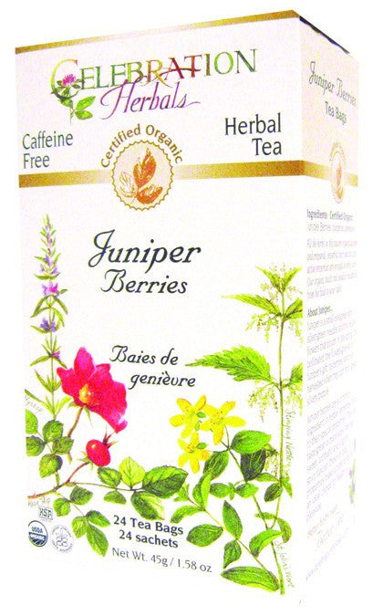 Dietary Supplement - Celebration Herbals Juniper Berries Tea Organic 24 BAG