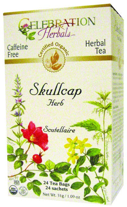 Dietary Supplement - Celebration Herbals Skullcap Herb Organic Tea 24 BAG