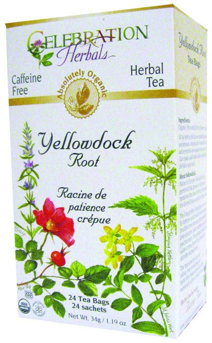 Dietary Supplement - Celebration Herbals Yellowdock Root Tea Organic 24 BAG