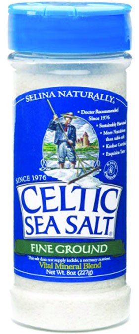 Dietary Supplement - Celtic Sea Salt Light Grey Coarse Salt 8 OZ