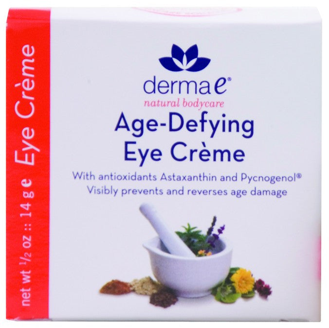 Dietary Supplement - Derma E Natural Age Defying Eye Cream .5 OZ