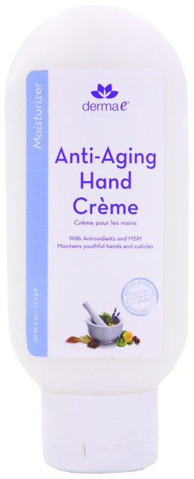 Dietary Supplement - Derma E Natural Age Defying Hand Creme 4 OZ