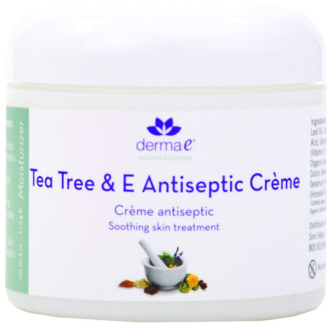 Dietary Supplement - Derma E Natural Tea Tree & E Antiseptic Creme 4 OZ