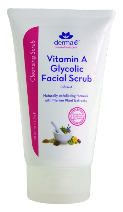 Dietary Supplement - Derma E Natural Vitamin A Glycolic Scrub 4 OZ