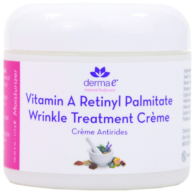 Dietary Supplement - Derma E Natural Vitamin A Retinyl Palmitate Creme 4 OZ