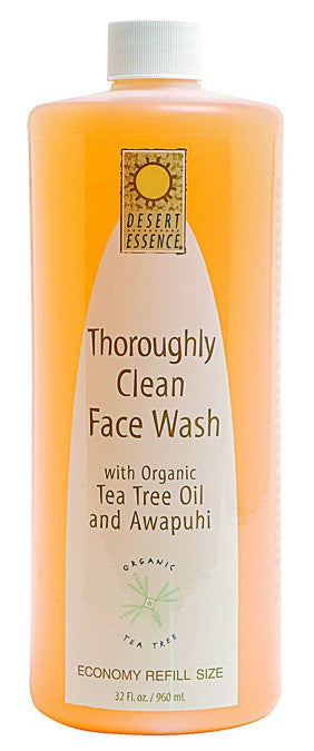 Dietary Supplement - Desert Essence Thoroughly Clean Face Wash Refill 32 OZ