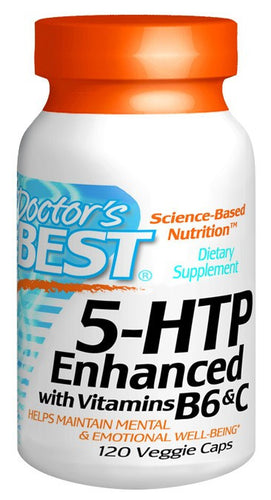 Dietary Supplement - Doctor's Best 5 HTP W/ Vitamin B6 And C 120 VGC