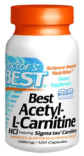 Dietary Supplement - Doctor's Best Acetyl L-Carnitine W/Sigma Tau 120 CAP