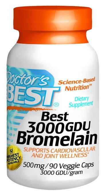 Dietary Supplement - Doctor's Best Bromelain 3000 GDU 90 VGC