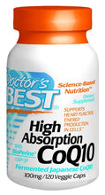 Dietary Supplement - Doctor's Best High Absorption CoQ10 100mg - 120 Count