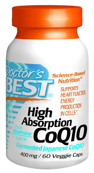 Dietary Supplement - Doctor's Best High Absorption CoQ10 400mg 60 VGC