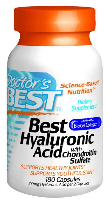 Dietary Supplement - Doctor's Best Hyaluronic Acid W/ Chondr Sulfate 180 CAP