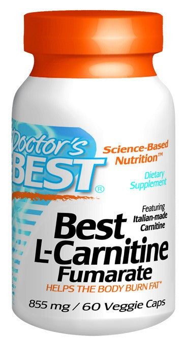 Dietary Supplement - Doctor's Best L-Carnitine Fumarate W/ Sigma Tau 60 VGC