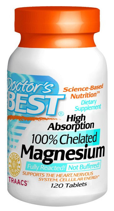 Dietary Supplement - Doctor's Best Magnesium 100mg High Absorption 120 TAB