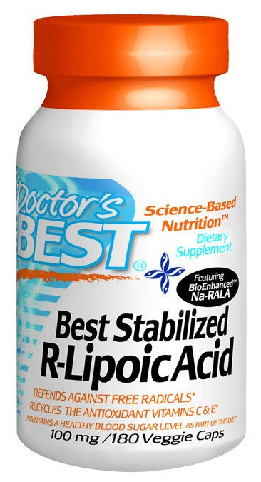 Dietary Supplement - Doctor's Best Stabilized R-Lipoic Acid 100 Mg 180 VGC
