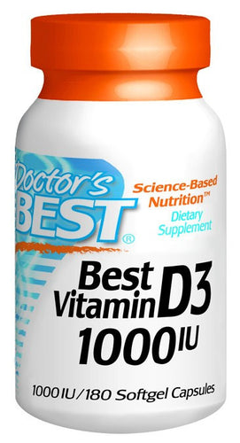 Dietary Supplement - Doctor's Best Vitamin D 1000IU 180 SFG