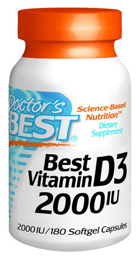Dietary Supplement - Doctor's Best Vitamin D3 2000IU 180 SFG