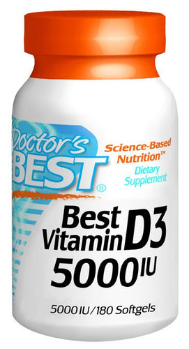 Dietary Supplement - Doctor's Best Vitamin D3 5000 IU 180 SFG