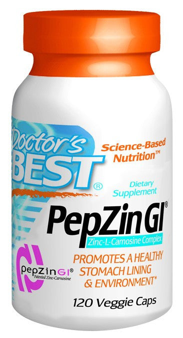 Dietary Supplement - Doctor's Best Zinc Carnosine Complex PepZinGI 120 VGC