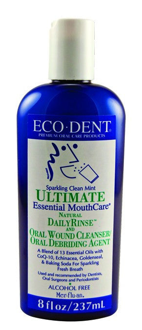 Dietary Supplement - Ecodent Clean Mint Mouth Rinse 8 OZ