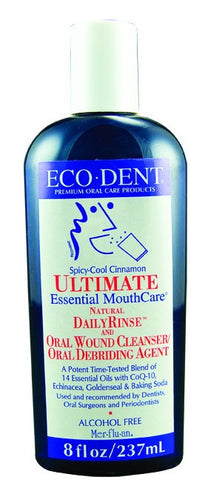 Dietary Supplement - Ecodent Cool Cinnamon Mouth Rinse 8 OZ