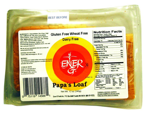 Dietary Supplement - Ener-G Foods Gluten-Free Papa's Loaf