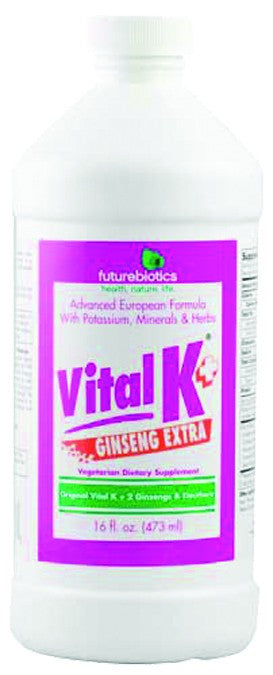 Dietary Supplement - Futurebiotics Vital K + Extra Ginseng 16 OZ