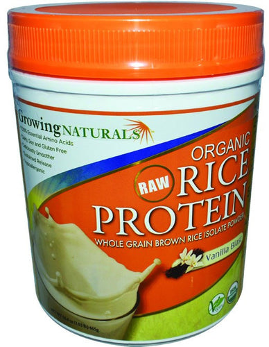 Dietary Supplement - Growing Naturals Vanilla Rice Protein Isolate 16.4 OZ