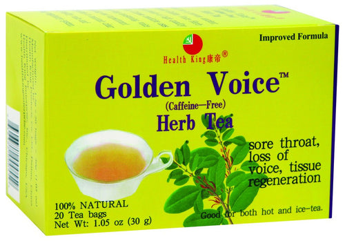 Dietary Supplement - Health King Golden Voice Caffeine Free 20 BAG