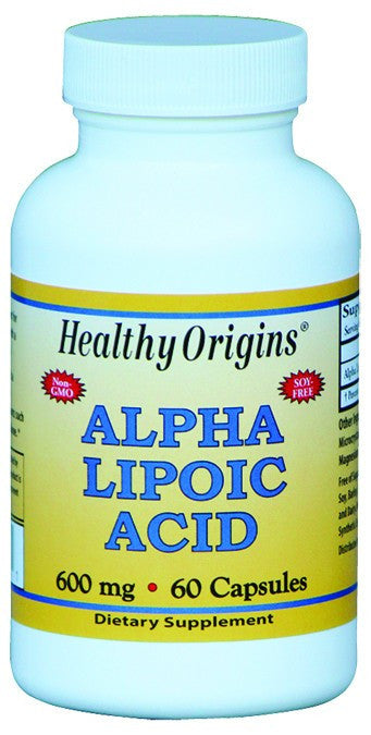Dietary Supplement - Healthy Origins Alpha Lipoic Acid 600mg 60 CAP