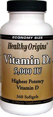 Dietary Supplement - Healthy Origins Vitamin D3 5000IU 360 SFG