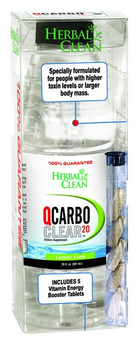 Dietary Supplement - Herbal Clean QCarbo Clear Lemon Lime - 20 OZ