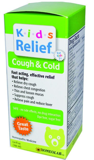 Dietary Supplement - HomeoLab USA Kids Relief Cough And Cold 100 ML