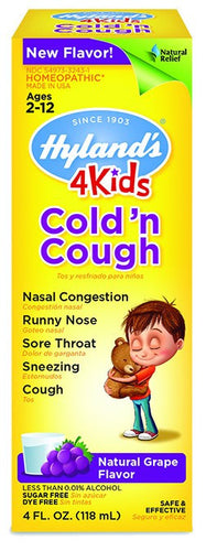Dietary Supplement - Hylands 4 Kids Cold 'n Cough Grape 4 OZ