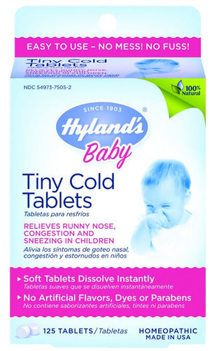 Dietary Supplement - Hylands Baby Tiny Cold Tablets 125 TAB