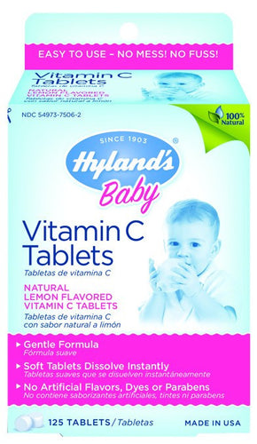 Dietary Supplement - Hylands Baby Vitamin C Tablets 125 TAB