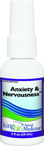 Dietary Supplement - King Bio Anxiety & Nervousness 2 OZ