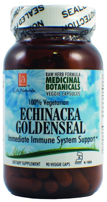 Dietary Supplement - LA Naturals Echinacea Goldenseal Raw Formula 90 VGC