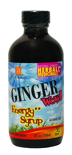 Dietary Supplement - LA Naturals Ginger Wow! Syrup Energy 4 OZ