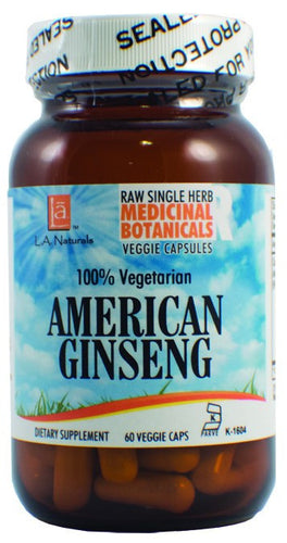 Dietary Supplement - LA Naturals Ginseng American Raw Herb 60 VGC