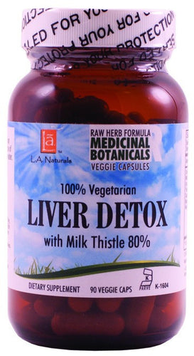 Dietary Supplement - LA Naturals Liver Detox Raw Formula 90 VGC