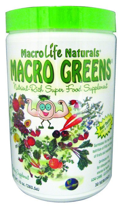 Dietary Supplement - Macrolife Naturals Macro Greens Food Supplement 10 OZ