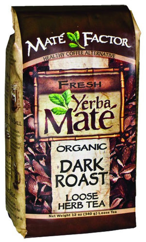 Dietary Supplement - Mate Factor Dark Roast Yerba Mate Energizing Tea 12 OZ
