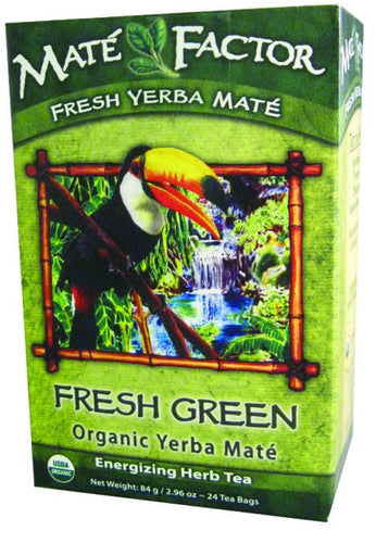 Dietary Supplement - Mate Factor Fresh Green Organic Yerba Mate Energizing Tea 24 BAG