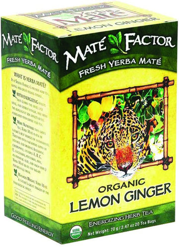Dietary Supplement - Mate Factor Lemon Ginger Org Mate Energizing Tea 20 Bag