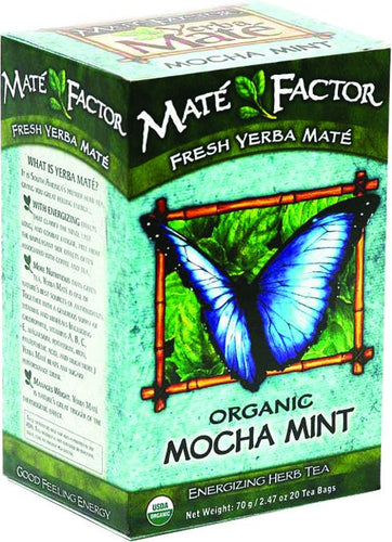 Dietary Supplement - Mate Factor Mocha Mint Organic Yerba Mate Energizing Tea 20 BAG