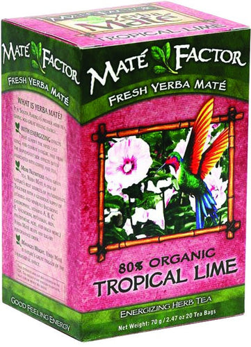 Dietary Supplement - Mate Factor Tropical Lime Yerba Mate Energizing Tea20 BAG