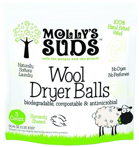 Dietary Supplement - Molly's Suds Wool Dryer Balls 3 PK