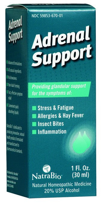 Dietary Supplement - Natra Bio Adrenal Support 1 OZ