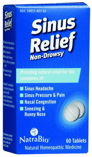 Dietary Supplement - Natra Bio Sinus Relief 60 TAB